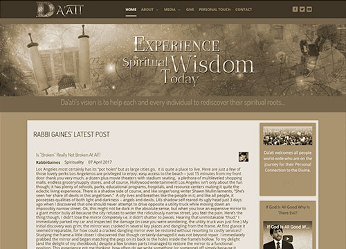 Da' Ati Foundation website homepage.